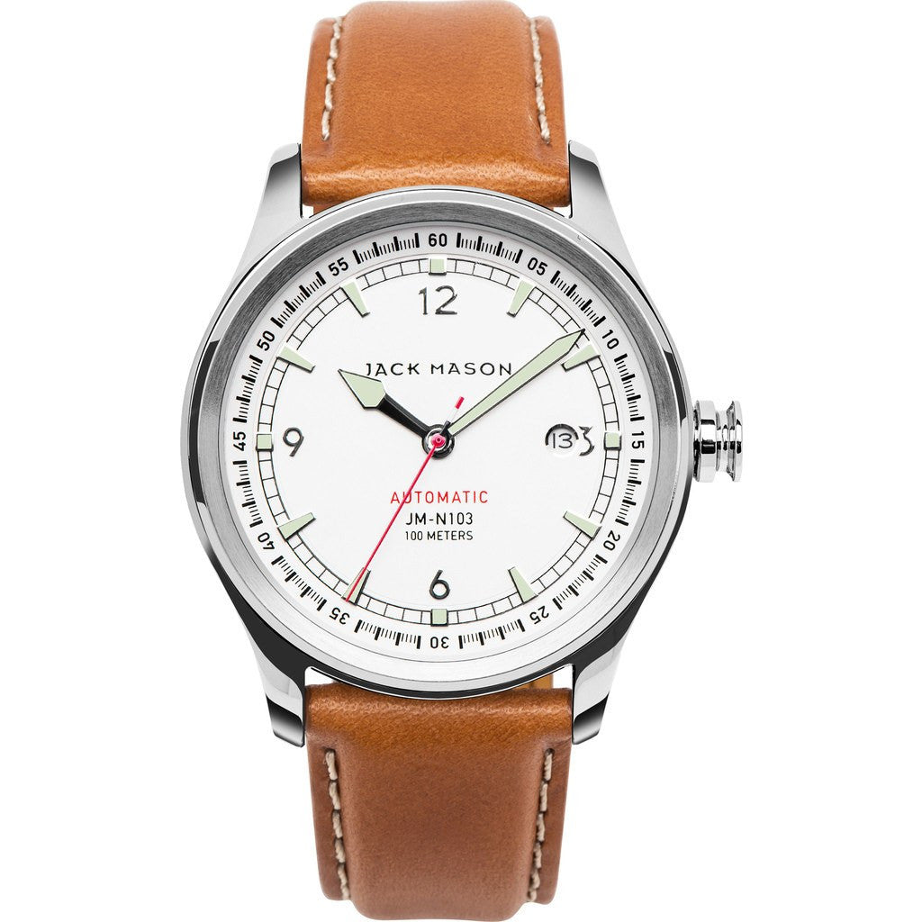 Jack Mason Nautical JM-N103-001 Automatic Watch | Tan Leather JM-N103-001