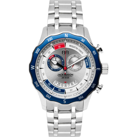 Jack Mason Navy Regatta Timer Yacht Watch | Steel