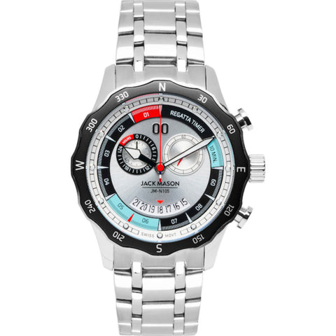 Jack Mason White Regatta Timer Yacht Watch | Steel