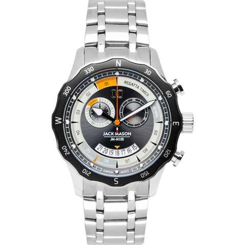 Jack Mason Gray Regatta Timer Yacht Watch | Steel