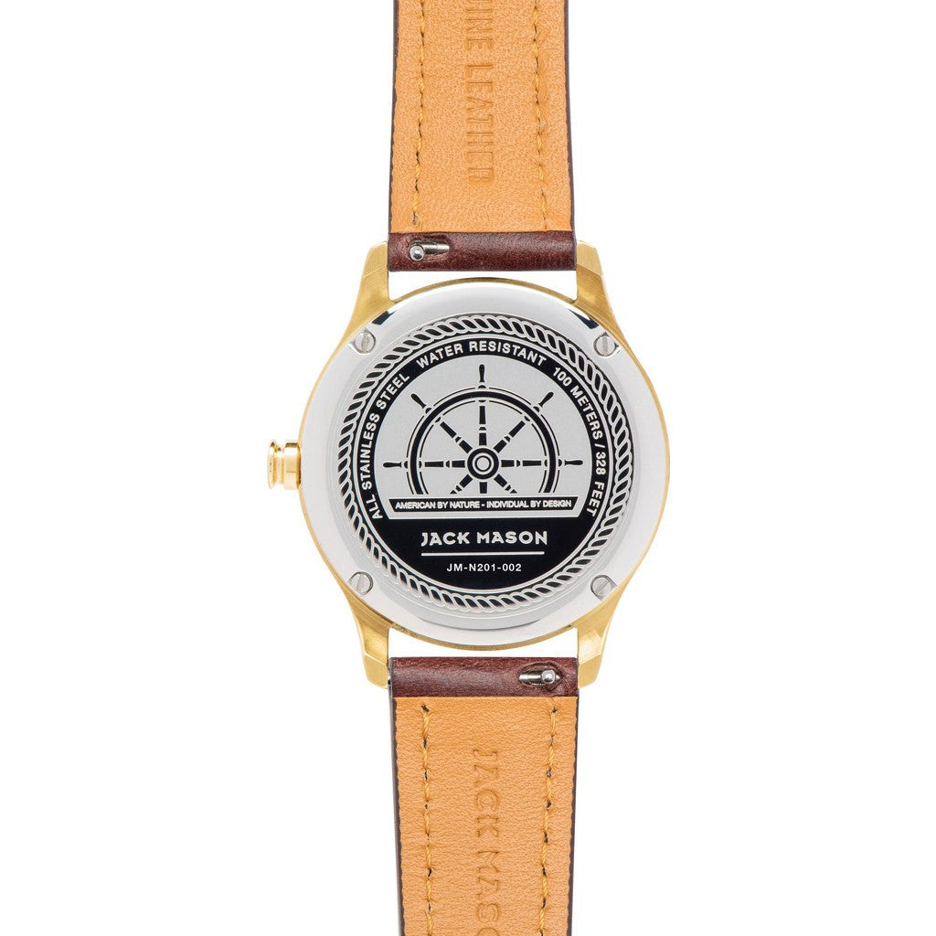Jack Mason Nautical JM-N201-002 3-Hand Watch | Brown Leather JM-N201-002
