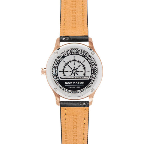 Jack Mason Nautical JM-N201-003 3-Hand Watch | Black Leather JM-N201-003