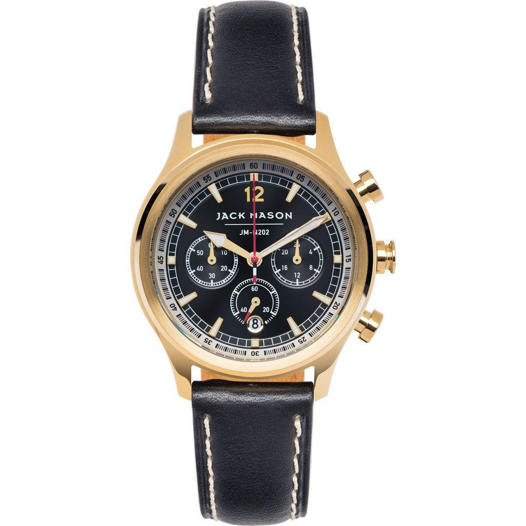 Jack Mason Nautical JM-N202-004 Chronograph Watch | Black Leather JM-N202-004