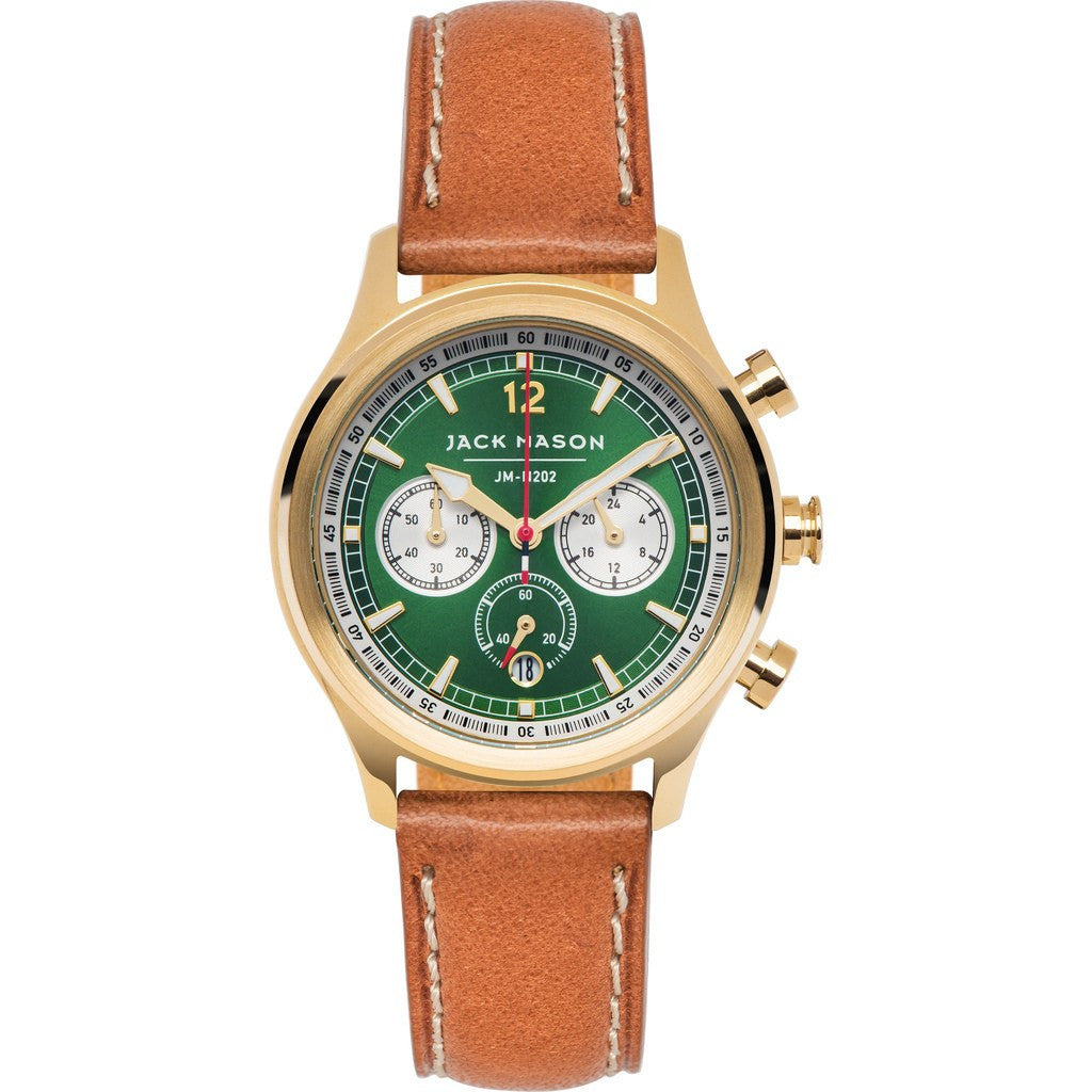 Jack Mason Nautical JM-N202-006 Chronograph Watch | Tan Leather JM-N202-006