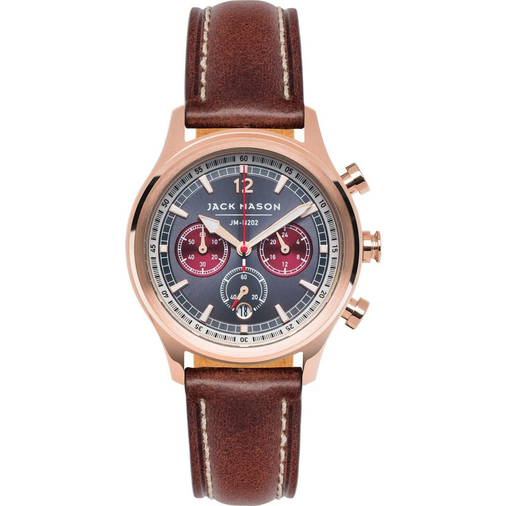 Jack Mason Nautical JM-N202-008 Chronograph Watch | Brown Leather  JM-N202-008