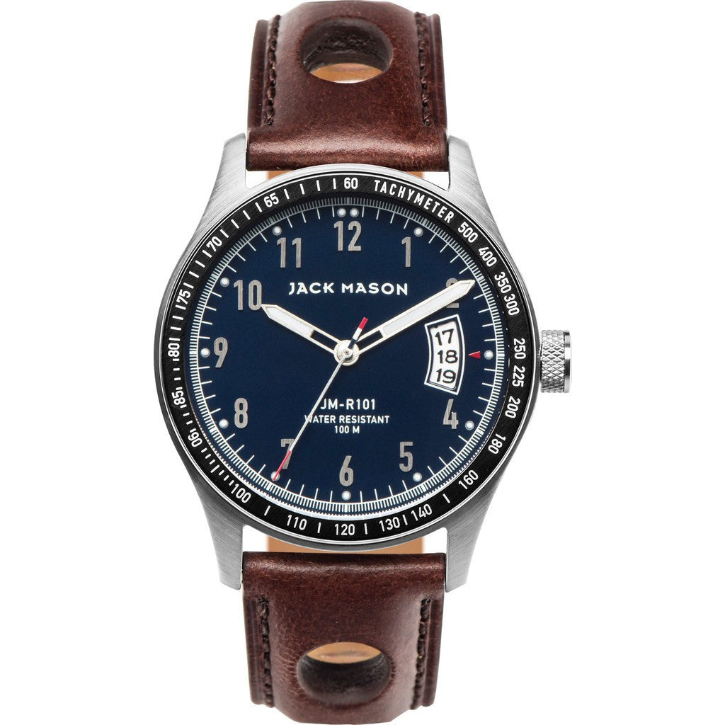 Jack Mason Racing JM-R101-001 3-Hand Watch | Brown Leather JM-R101-001