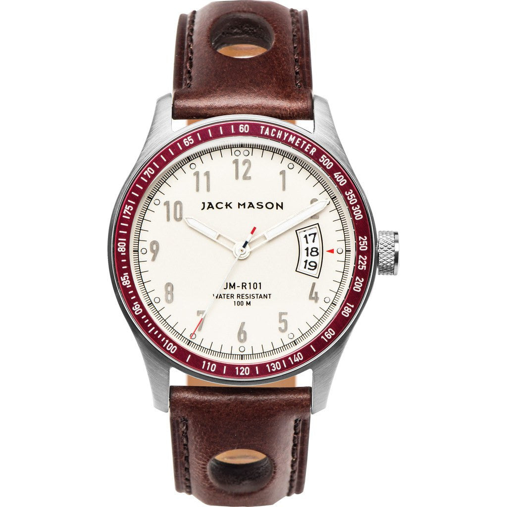 Jack Mason Racing JM-R101-003 3-Hand Watch | Brown Leather JM-R101-003