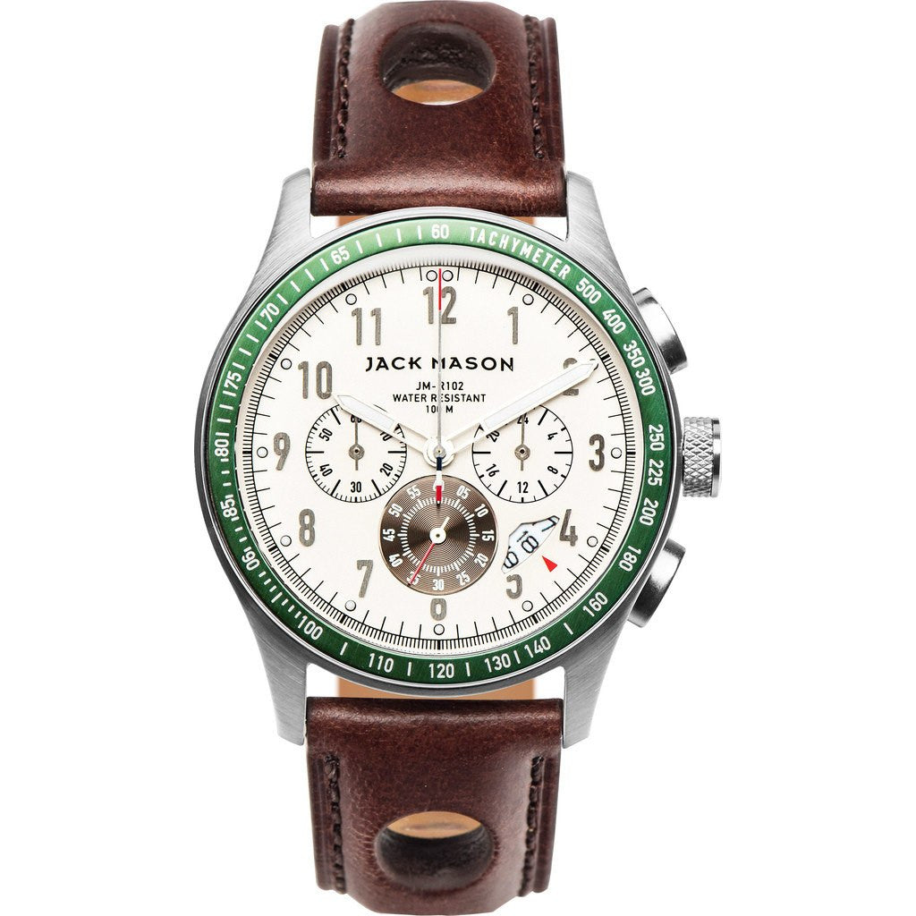 Jack Mason Racing JM-R102-006 Chronograph Watch | Brown Leather JM-R102-006