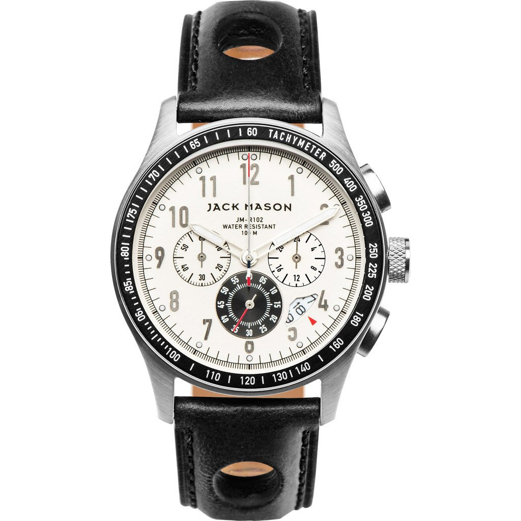 Jack Mason Racing JM-R102-008 Chronograph Watch | Black Leather JM-R102-008