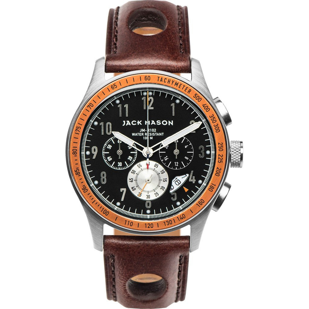 Jack Mason Racing JM-R102-009 Chronograph Watch | Brown Leather JM-R102-009