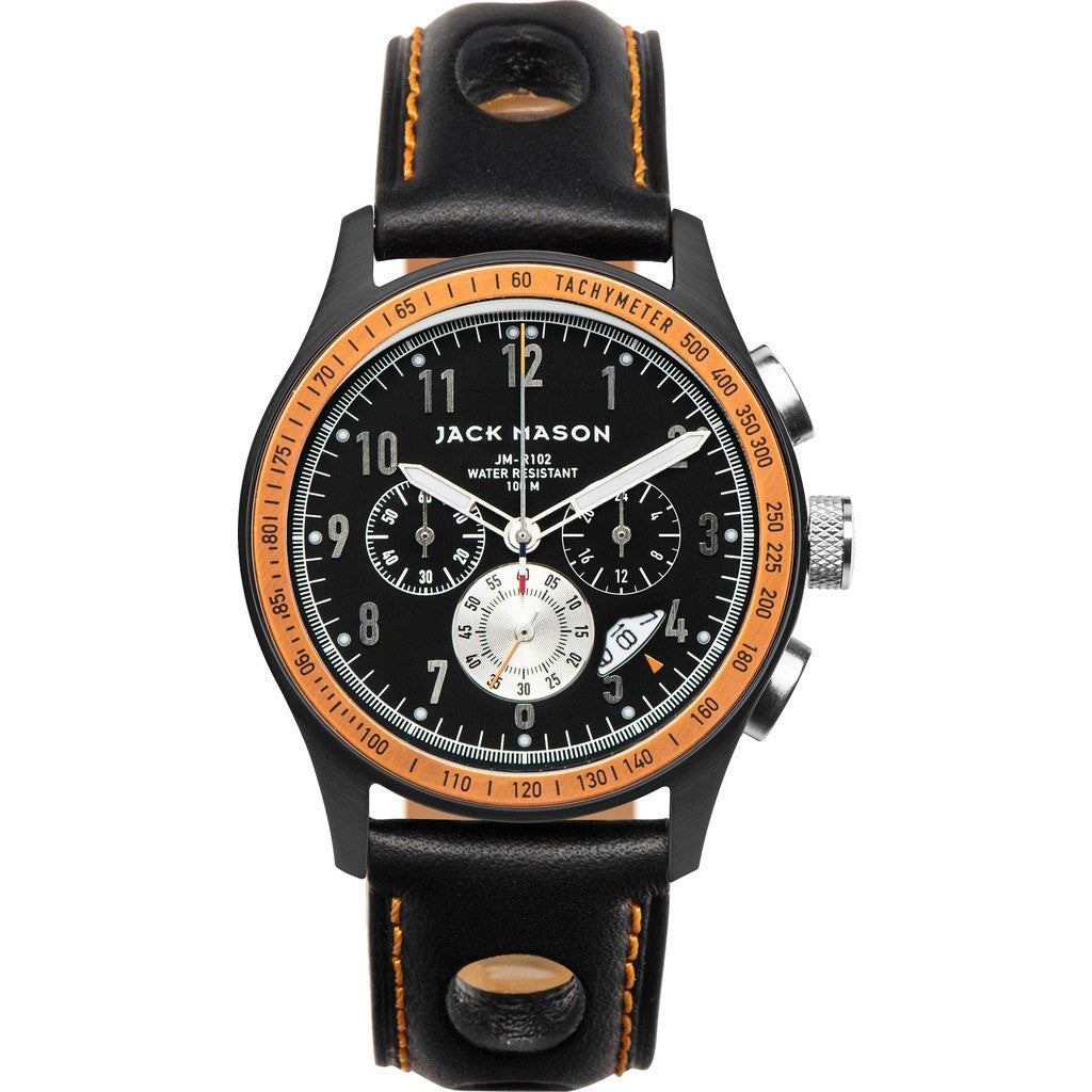 Jack Mason Racing JM-R102-011 Chronograph Watch | Black Leather JM-R102-011