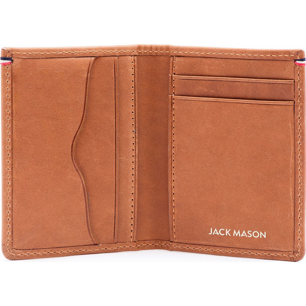 Jack Mason Leather Front Pocket Wallet | Tan JM-W102-025