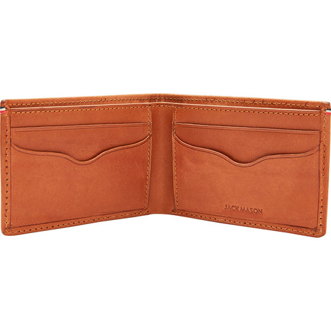 Jack Mason Slim Core Leather Bifold Wallet | Tan JM-W105-025
