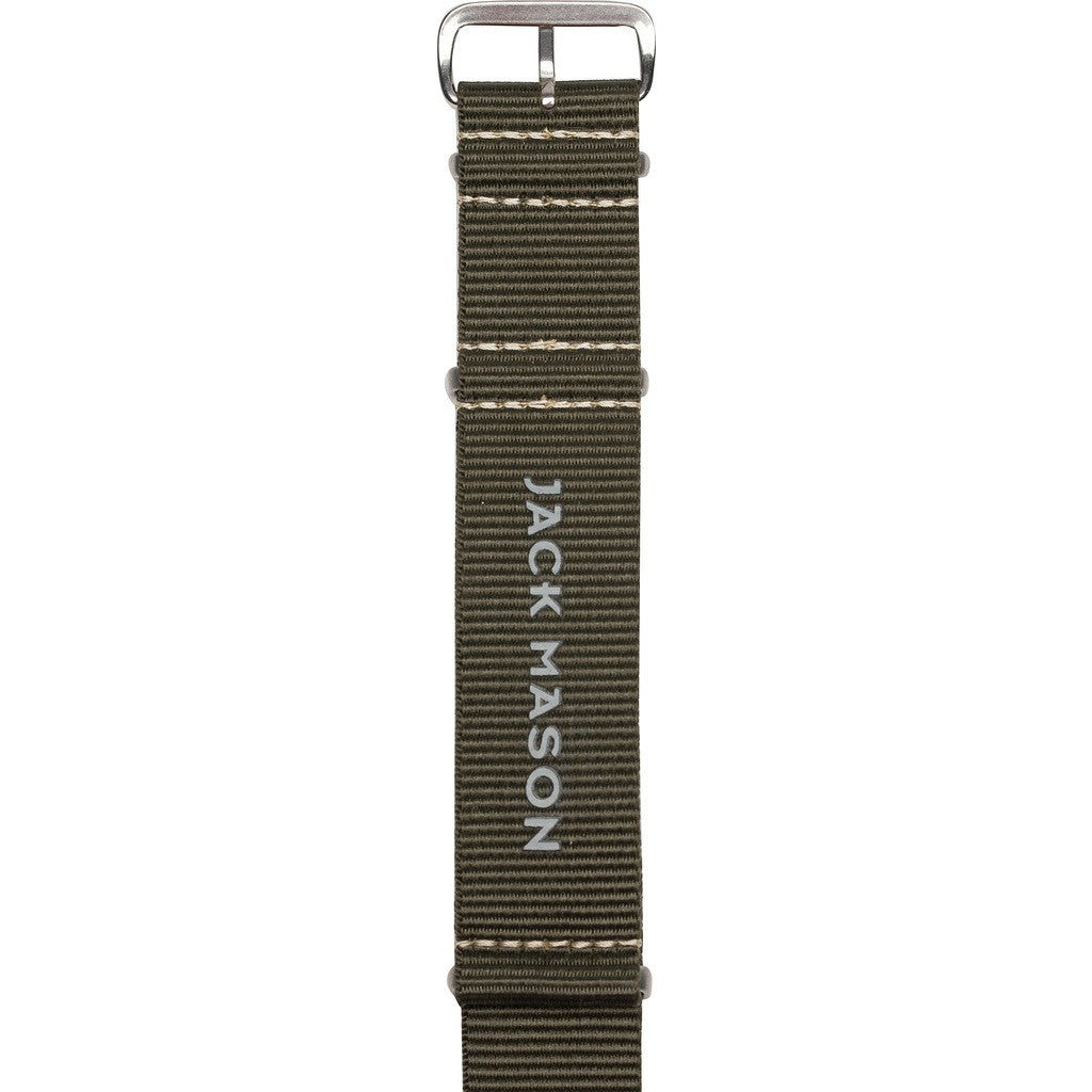 Jack Mason Aviator Watch Strap | Olive Nylon JMA-NS-002