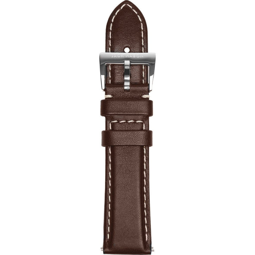Jack Mason Nautical Watch Strap | Brown Leather JMN-LS-002