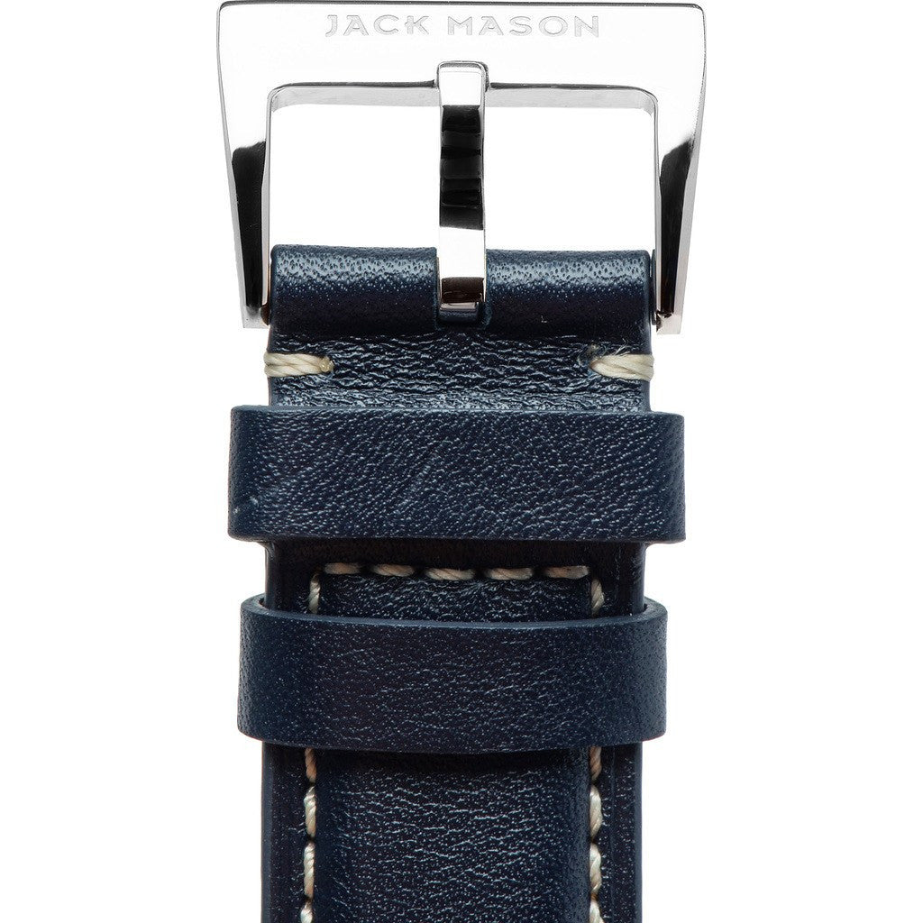 Jack Mason Nautical Watch Strap | Navy Leather JMN-LS-004