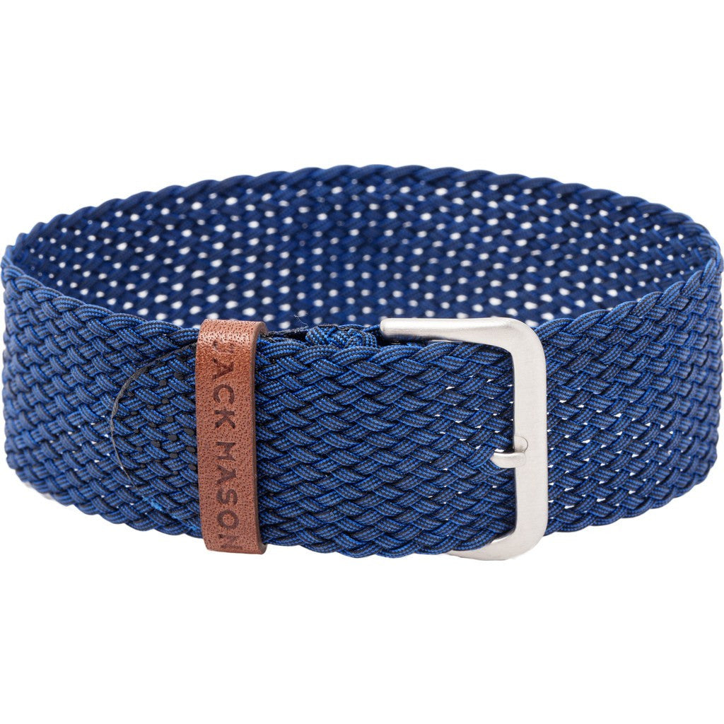 Jack Mason Nautical Watch Strap | Navy Perlon JMN-NS-004