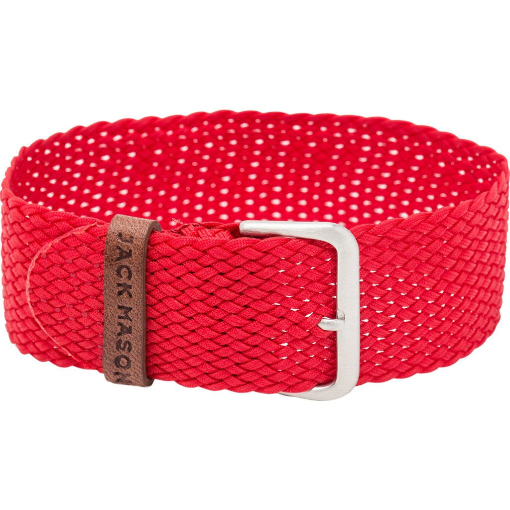 Jack Mason Nautical Watch Strap | Red Perlon JMN-NS-005