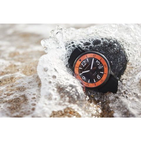 Armogan Syracuse N23 Diving Watch | Orange/Black Steel SYB22N7O2