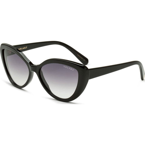 Velvet Eyewear Joie Black Sunglasses | Grey Fade V005BK05