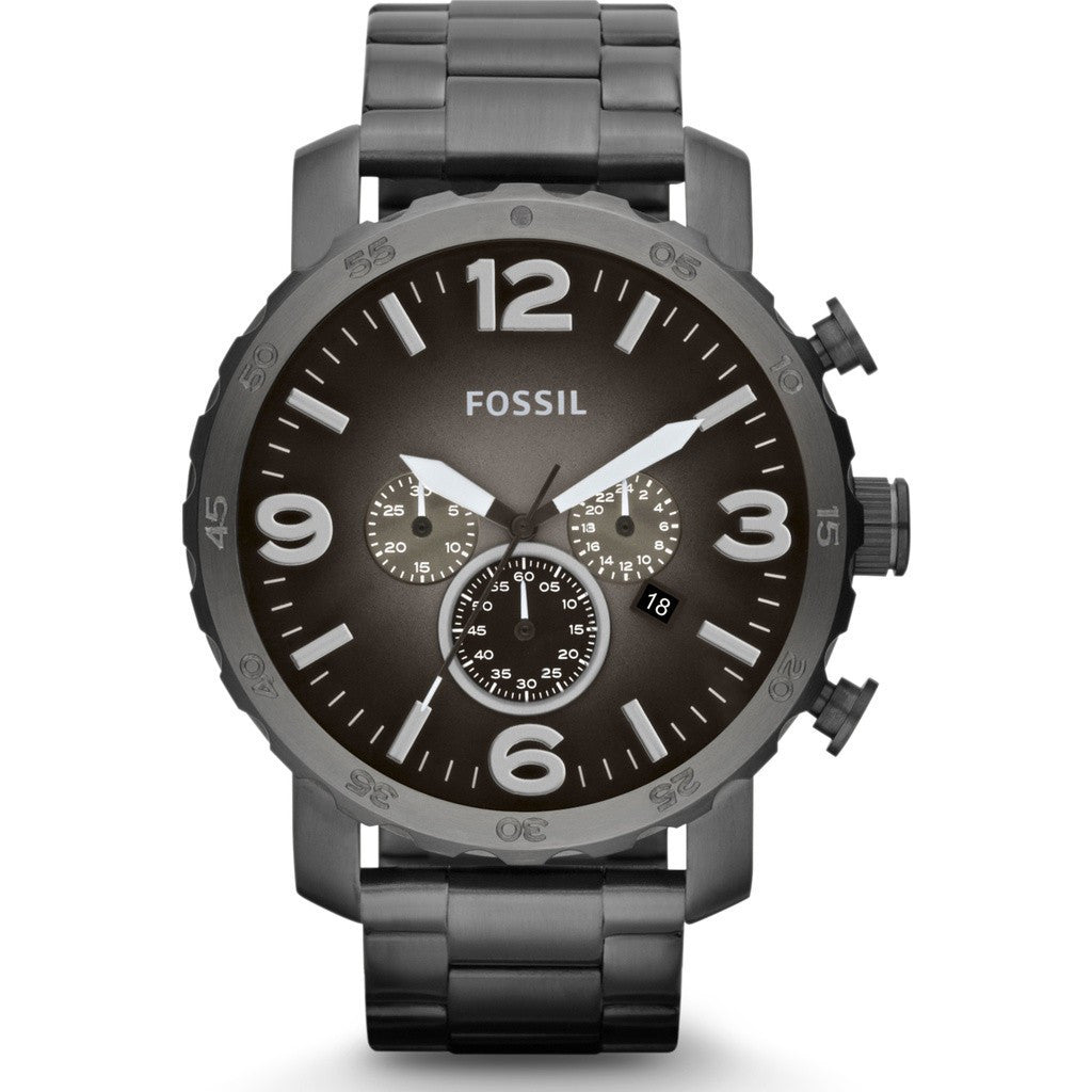 FOSSIL Nate Chronograph Watch | Stainless Steel JR1437