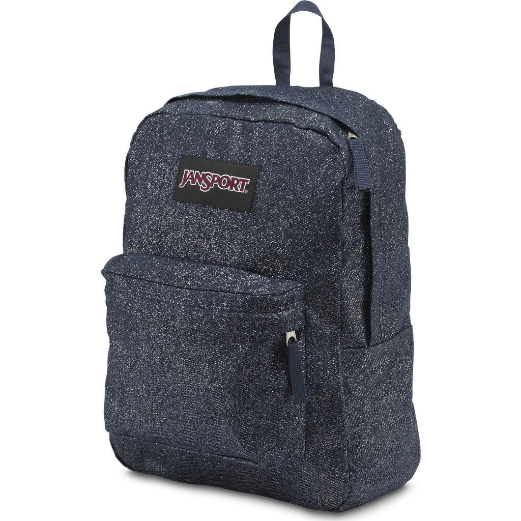 Jansport Super FX Backpack | Silver Sparkle Twill TVP80LP