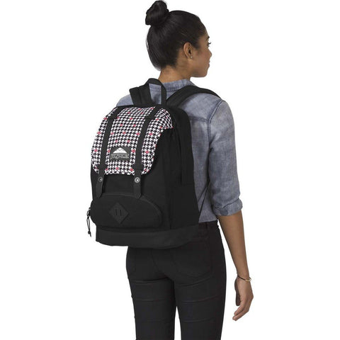 Jansport Disney Baughman Backpack | Disney Minnie White Houndstooth-JS0A3BAW37V
