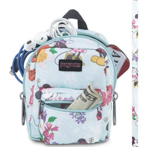 Jansport Disney Lil Break Mini Backpack Accessory Holder | Disney Blooming Minnie-JS0A3BB63D4