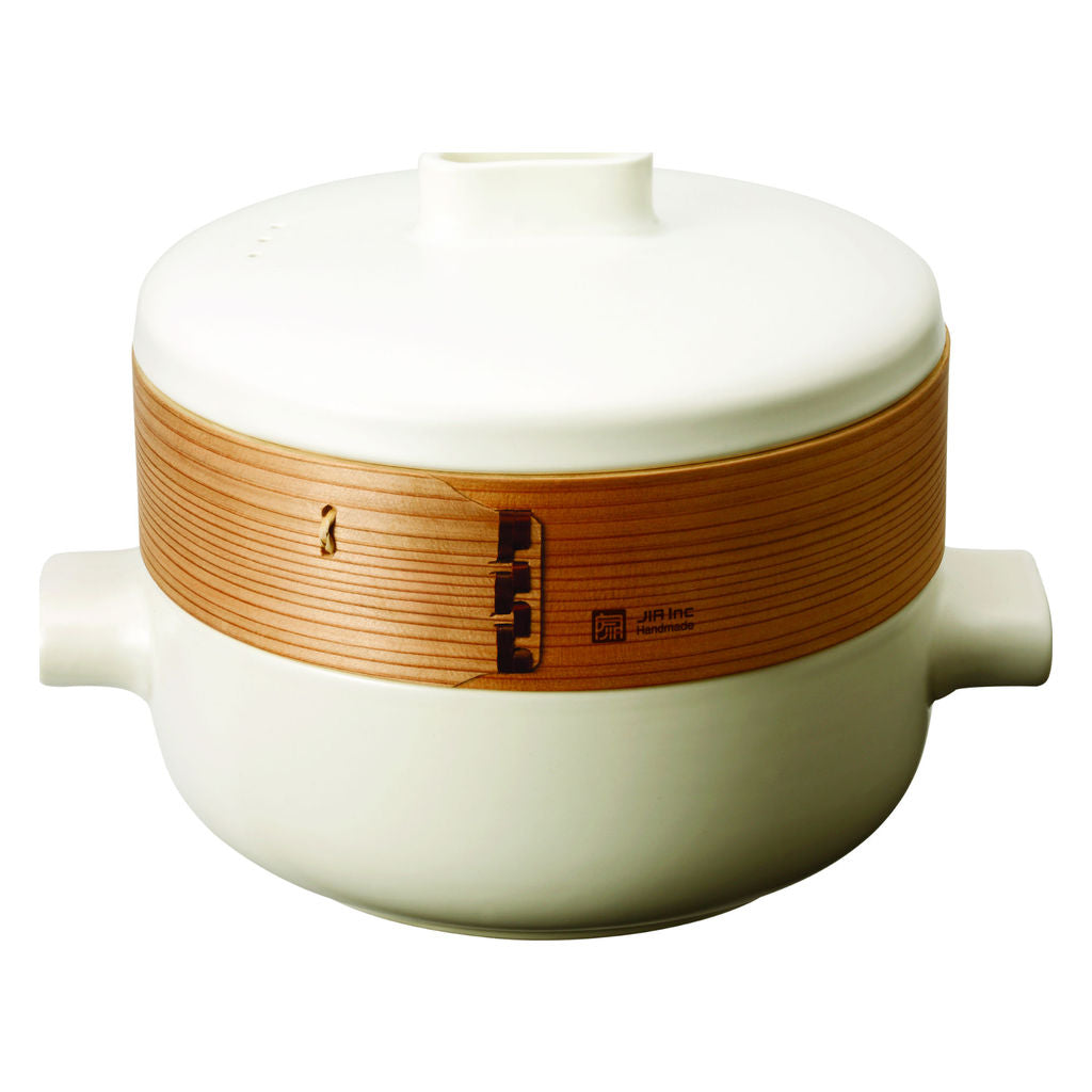 JIA Inc Personal Steamer Set | White- JST110