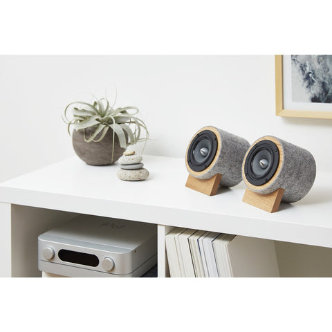 Well Rounded Sound Jack Terrier 2 Speaker Set | Oak/Light Gray JT2 O/LG