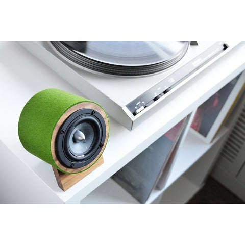 Well Rounded Sound Jack Terrier 2 Speaker Set | Walnut/Green JT2 W/G