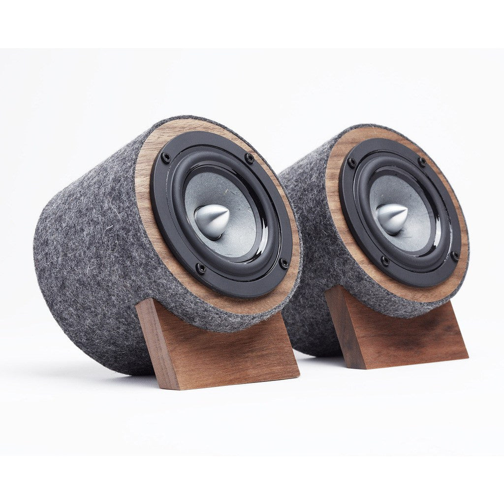 Well Rounded Sound Jack Terrier 2 Speaker Set | Walnut/Dark Gray JT2 W/DG