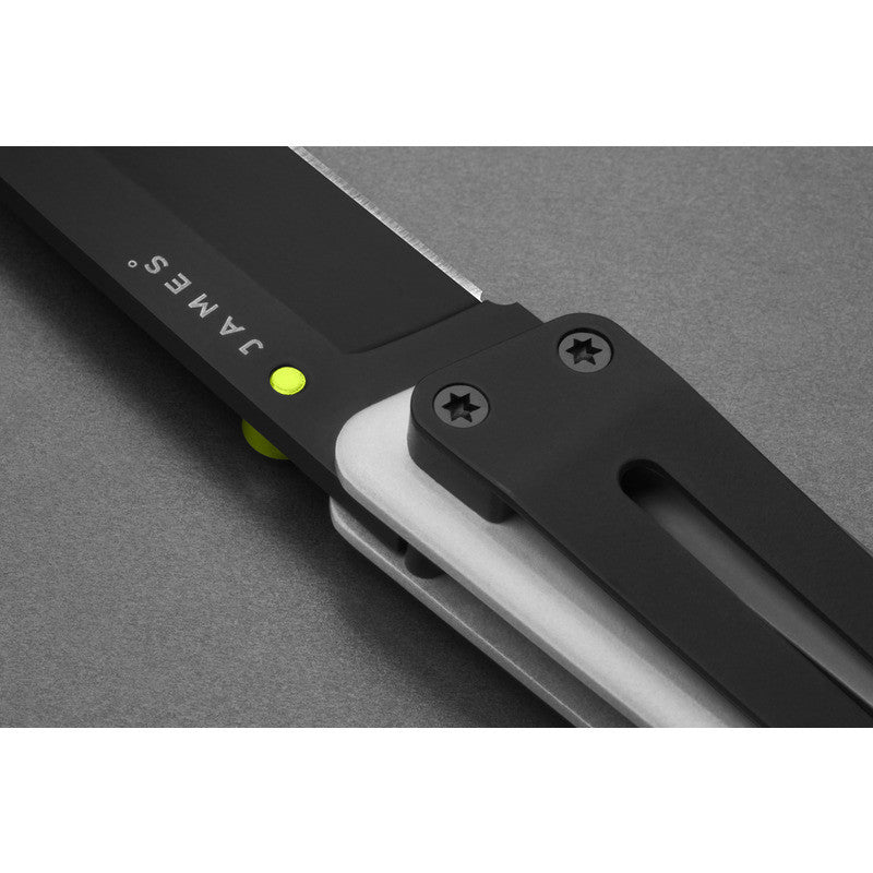 James Knives The Chapter Knife | Bone/Black Straight