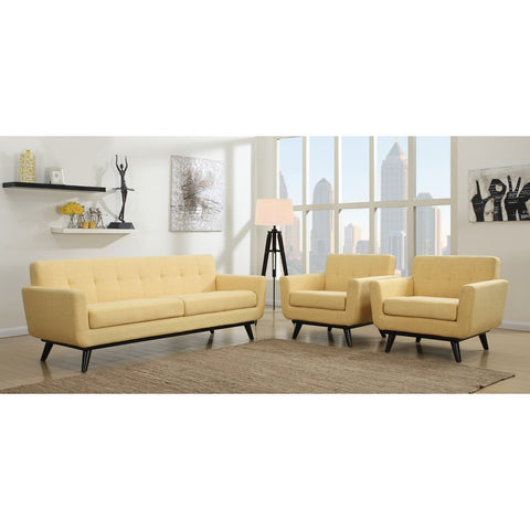 TOV Furniture James Linen Sofa | Mustard Yellow- TOV-S20S-Y