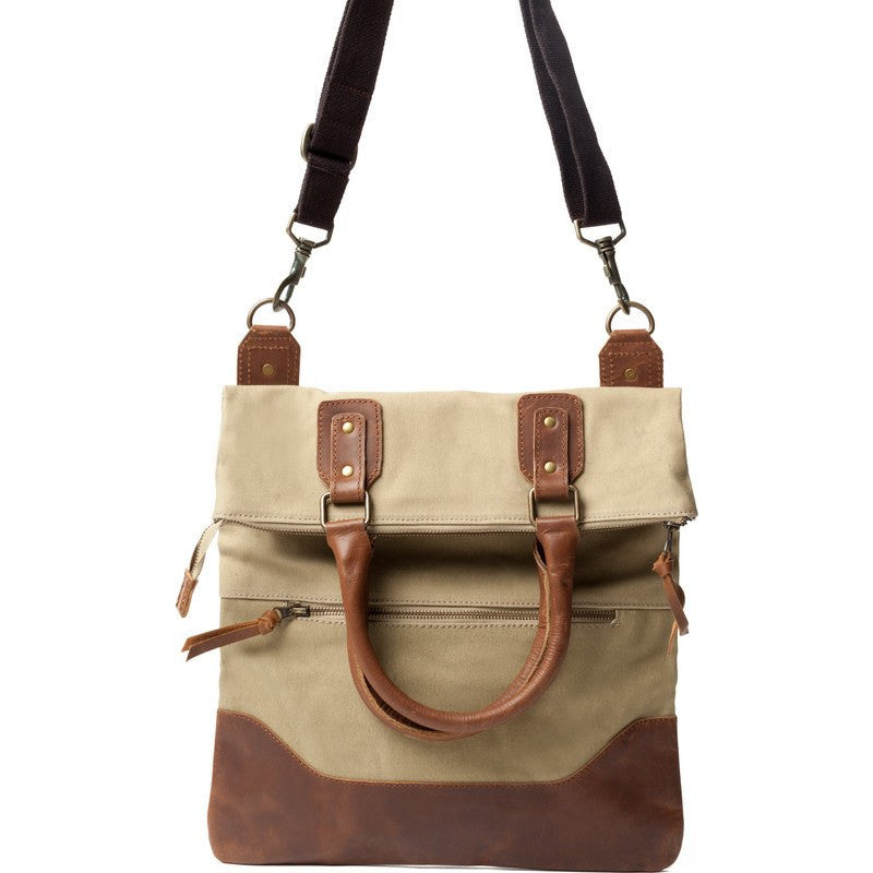 United By Blue Jasper Foldover Crossbody Tote | Khaki