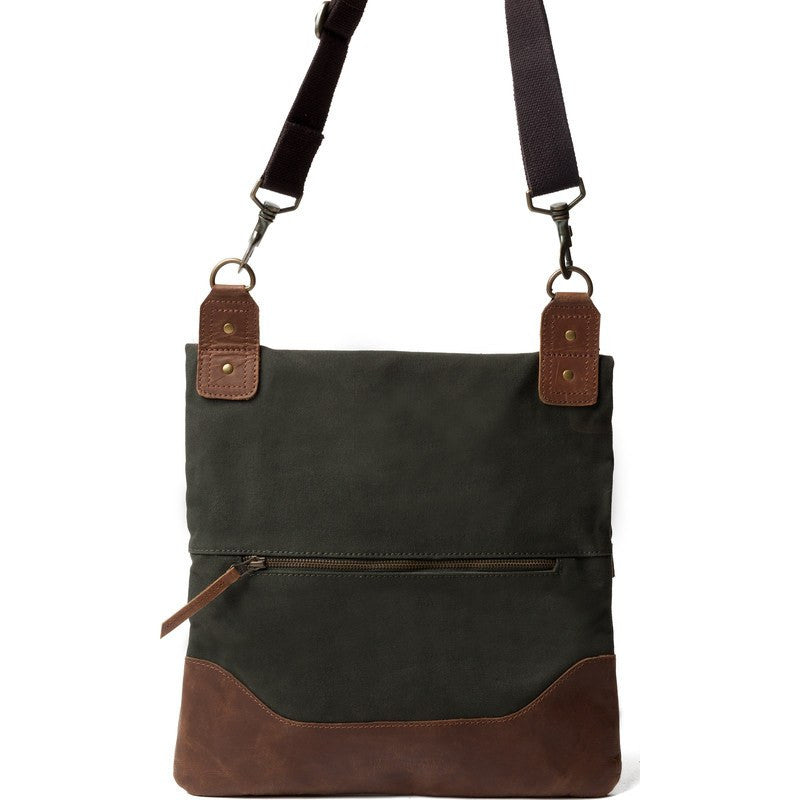 United By Blue Jasper Foldover Crossbody Tote | Moss