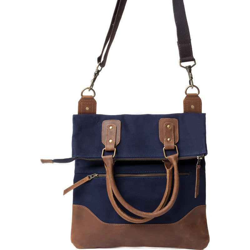 United By Blue Jasper Foldover Crossbody Tote | Navy