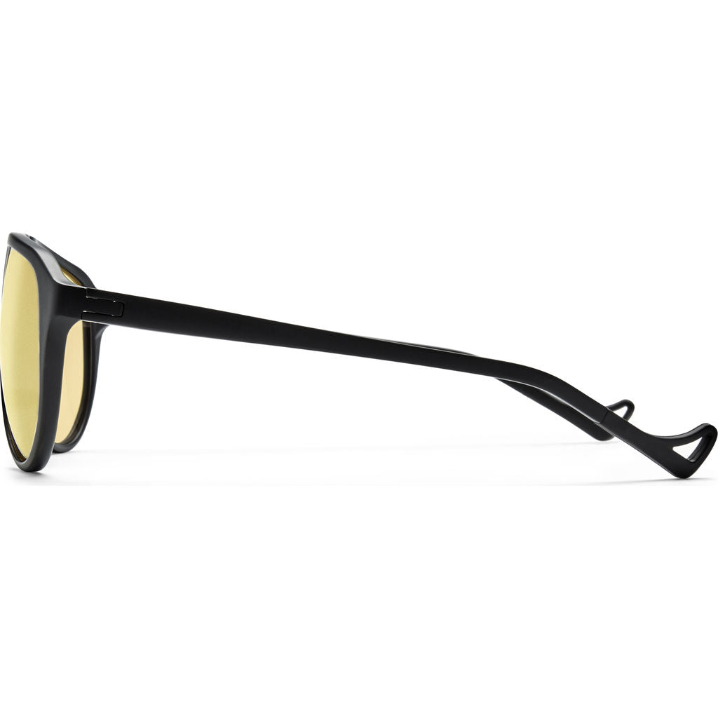 District Vision Yukari Black Sunglasses | District Sports Yellow