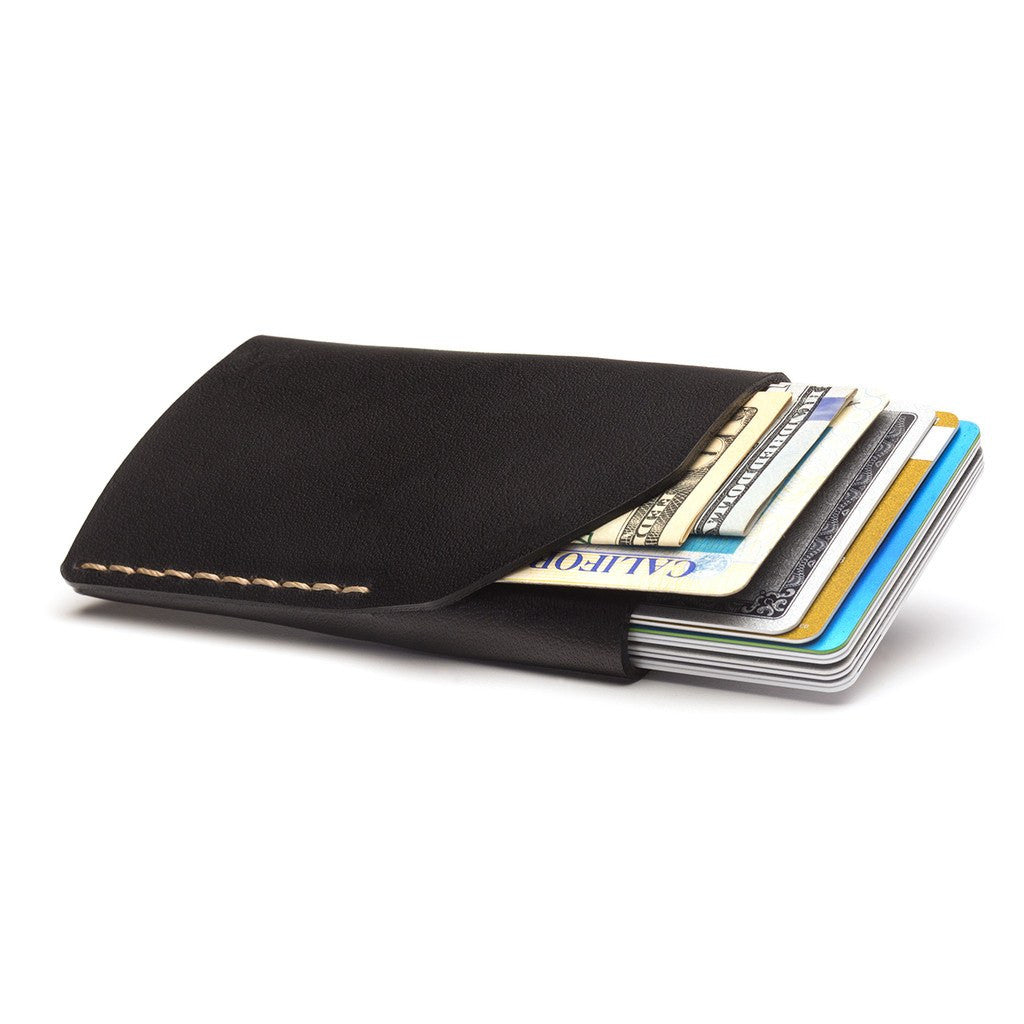 Ezra Arthur No. 2 Wallet | Jet Top Stitch CW205