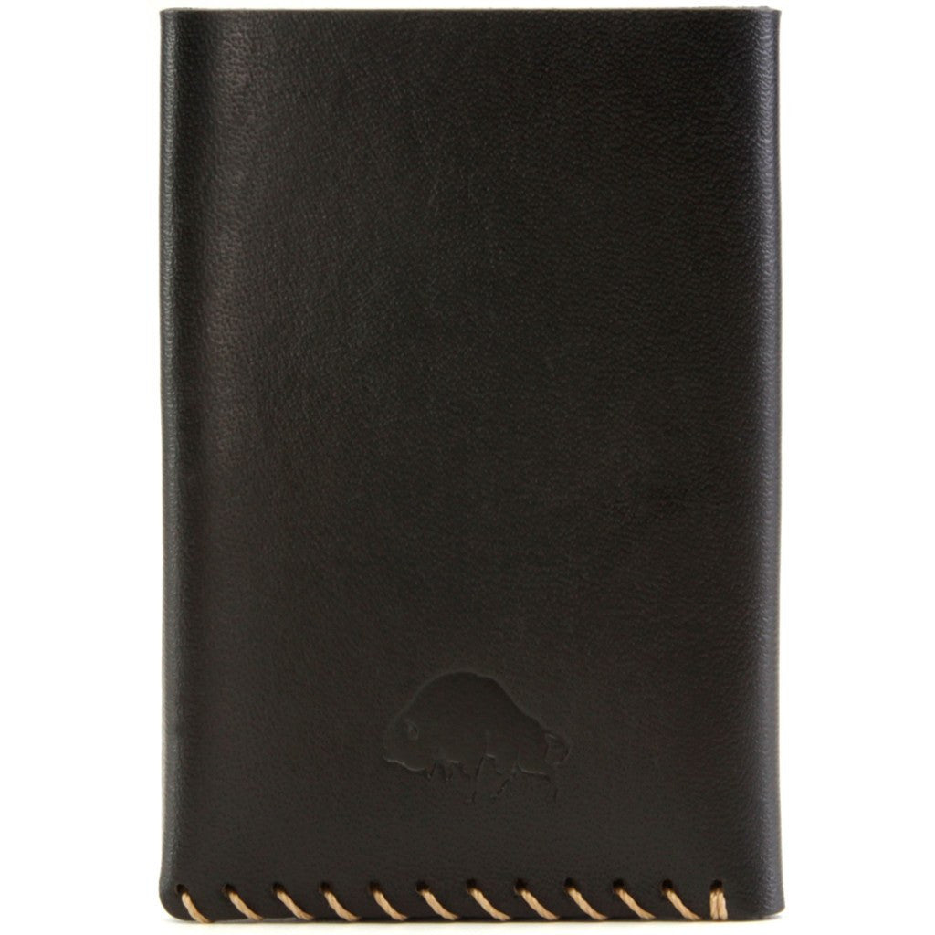 Ezra Arthur No. 2 Wallet | Jet Top Stitch