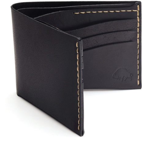 Ezra Arthur No. 8 Wallet | Jet Top Stitch CW805