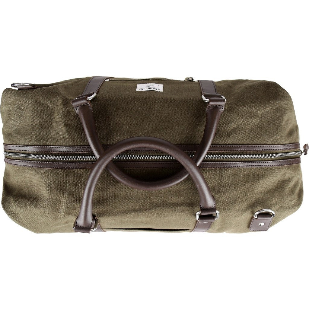 Sandqvist Jordan Weekend Bag | Waxed Olive
