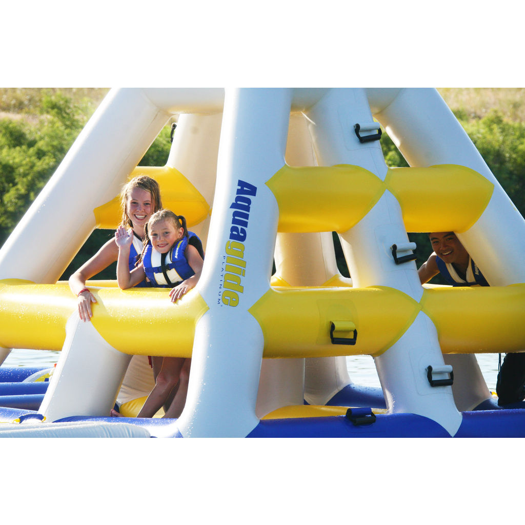 Aquaglide Inflatable Floating Jungle Jim | Yellow/White/Blue 58-5211107