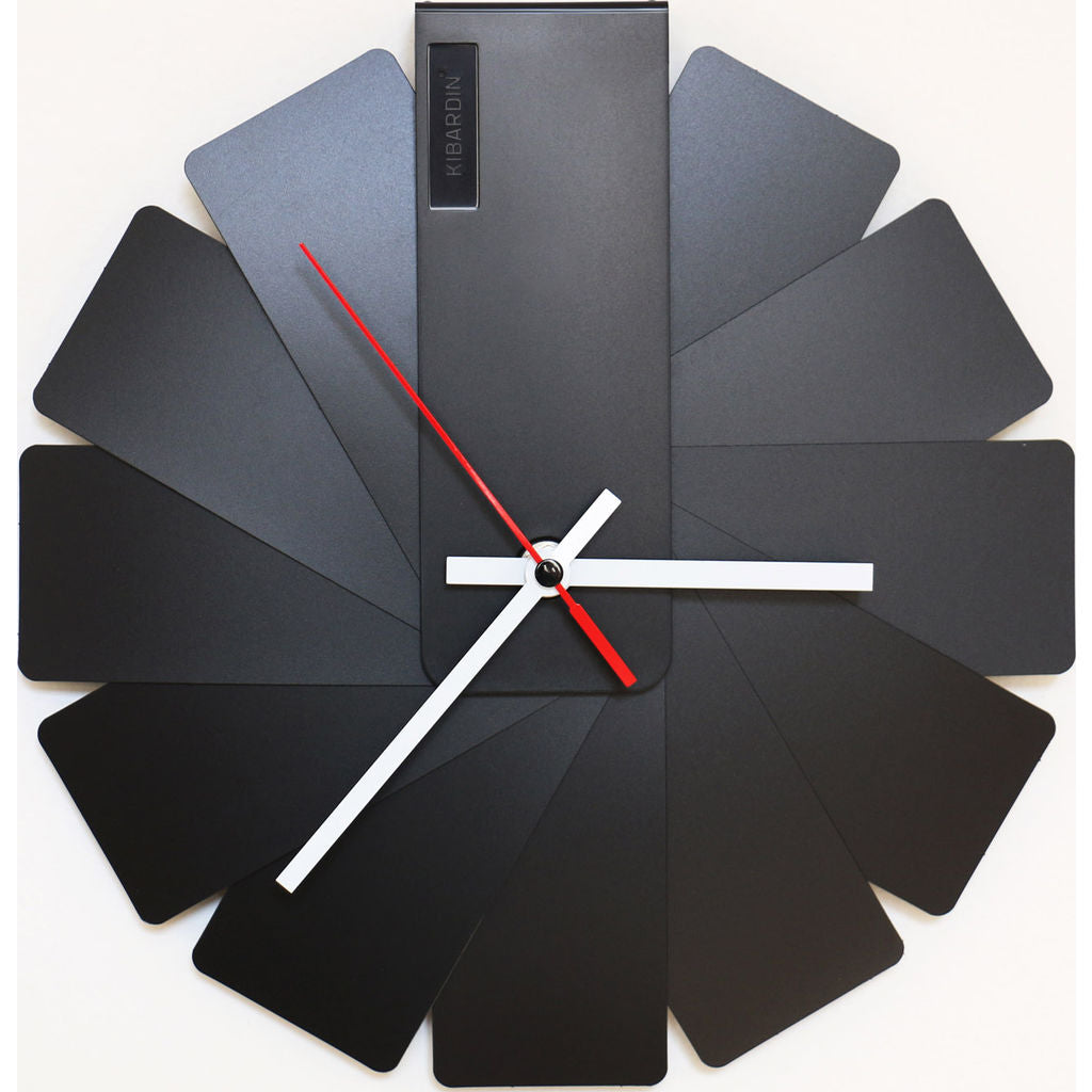 Kibardin Transformer Clock | Black/Black