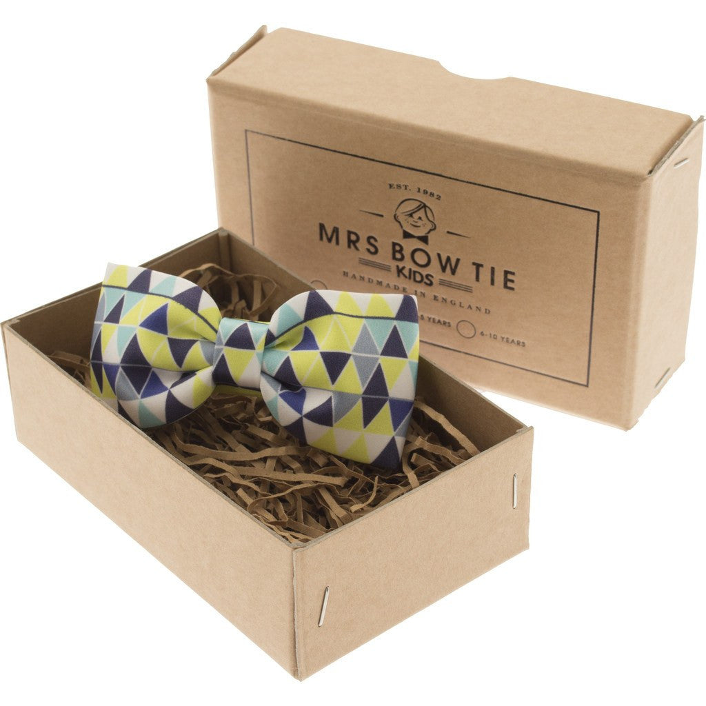 Mrs Bow Tie Bunting Junior Ready-Tied Bow Tie | Green 2-5 Years KIDS139