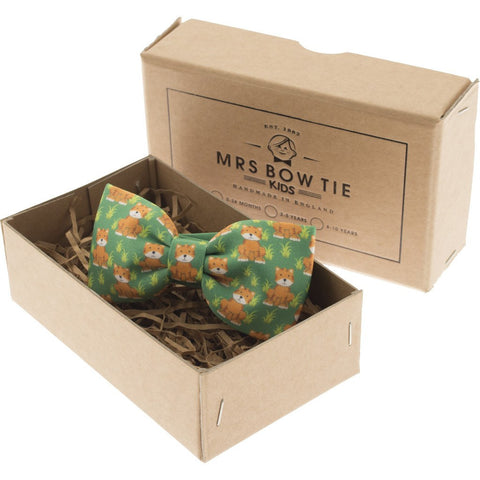 Mrs Bow Tie Timmy Tiger Junior Ready-Tied Bow Tie | Print 0-2 Years KIDS155