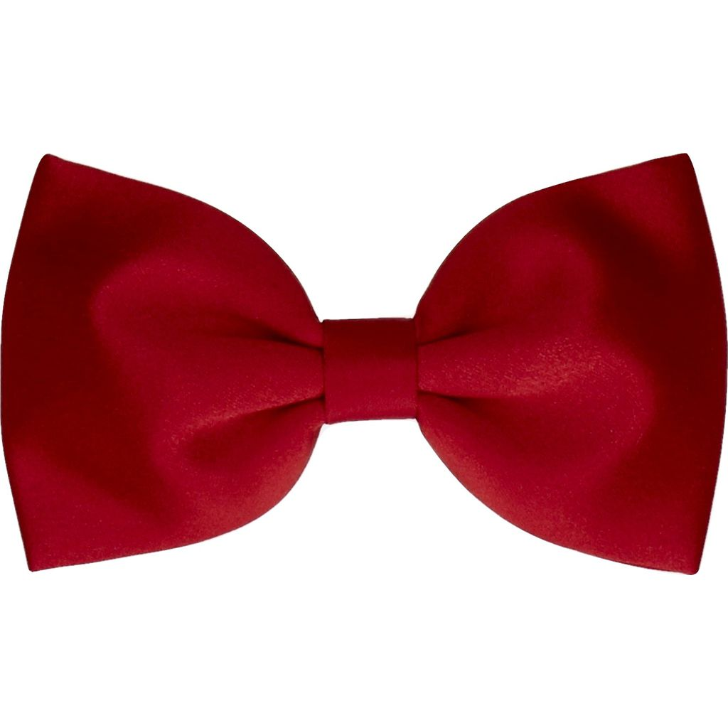 Mrs. Bow Tie Kids Satin in Vermillion Junior Bow Tie | Red