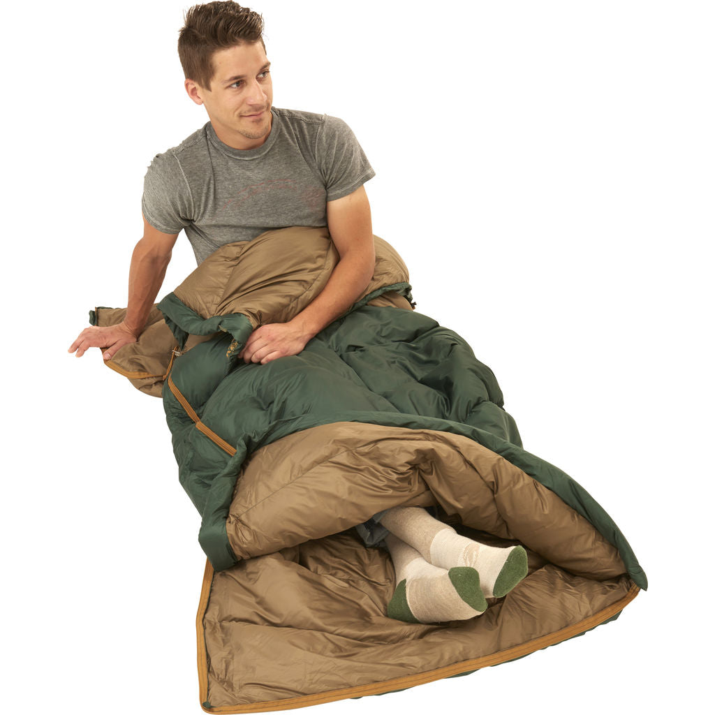 Kelty Galactic 30 Dridown Regular Sleeping Bag | Green/Brown