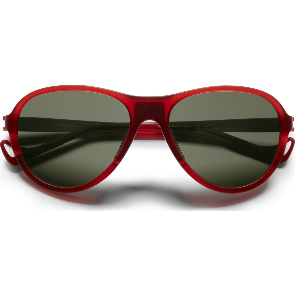 District Vision Explorer Kaishiro Red Sunglasses | District Sky G15
