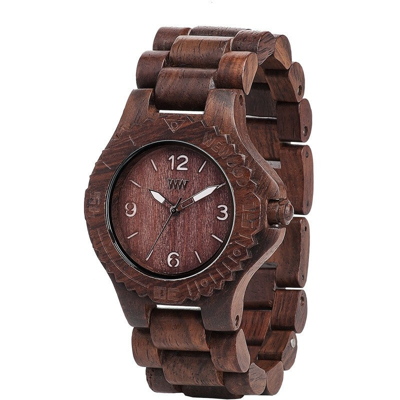 WeWood Kale Rosewood Wood Watch | Choco-White